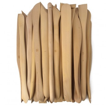 "Economy 8"" wooden Modelling Tools - Set of 38"