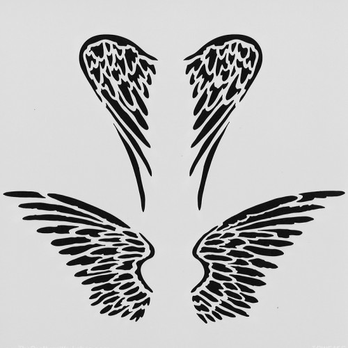 Angel Wings Stencil 15cm x 15cm