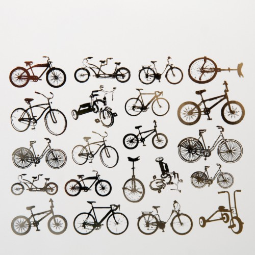 Bicycle Decal Silver