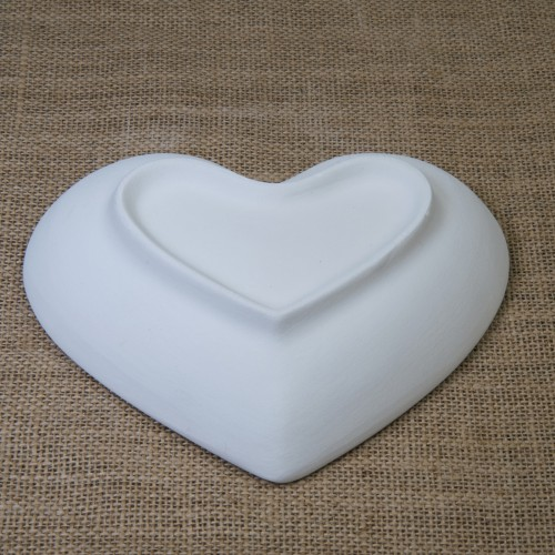 Bisque Heart Bowl Mould