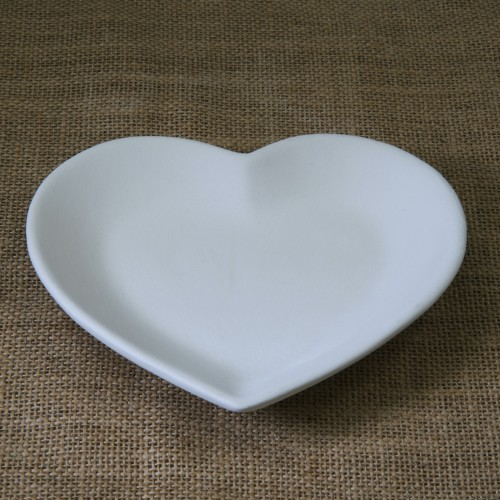 Bisque Heart Plate - Small