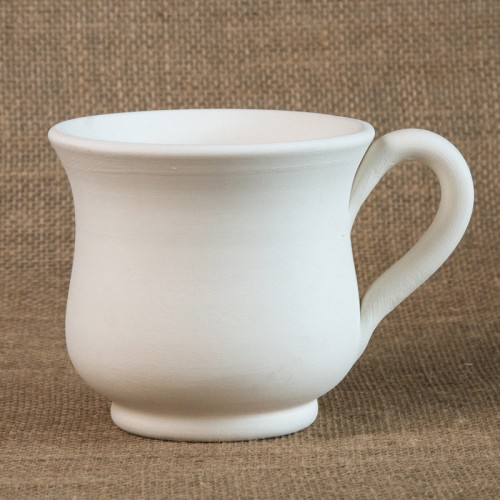 Bisque flared coffee mug