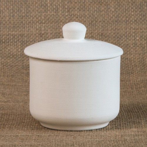 Bisque sugar pot