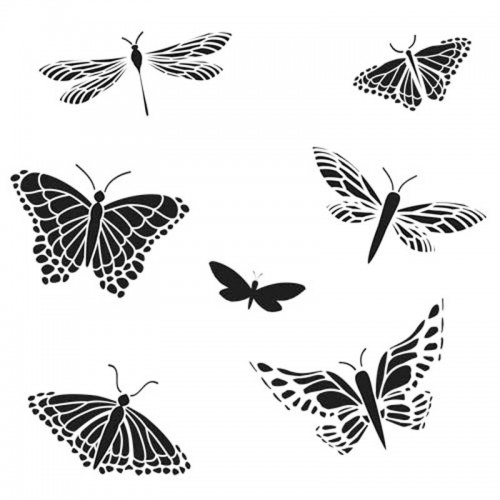 Butterfly Stencil (Mariposa) 15cm x 15cm