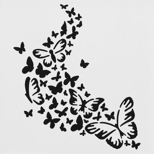 Butterfly Trail Stencil 15cm x 15cm