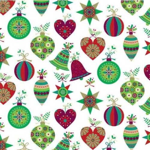 Christmas Decorations Decal 22cm x 22cm
