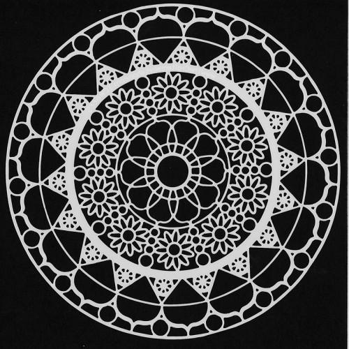 Daisy Chain Stencil 15cm x 15cm