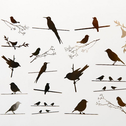 Birds on Wire Decal