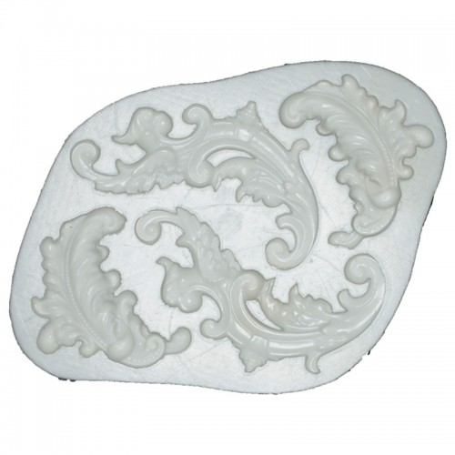 Silicone Mould - Feather Scrolls