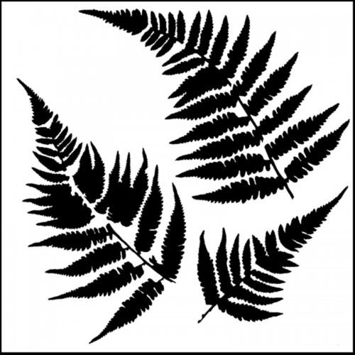 Fern Leaf Stencil 15cm x 15cm