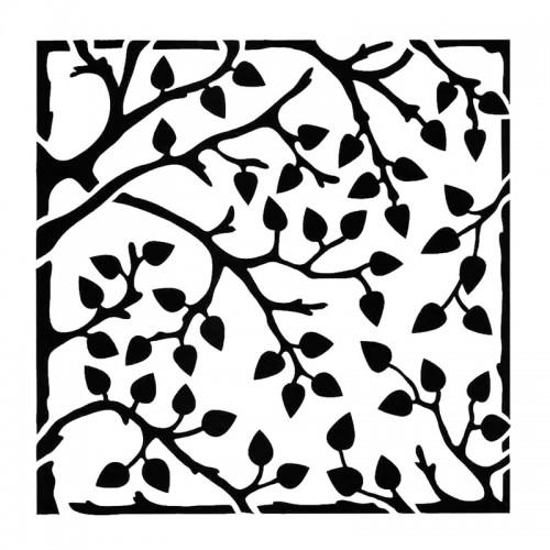 Leafy Branches Stencil 15cm x 15cm