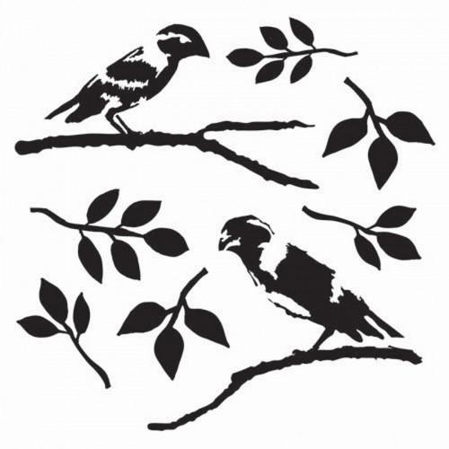 Love Birds Stencil 15cm x 15cm