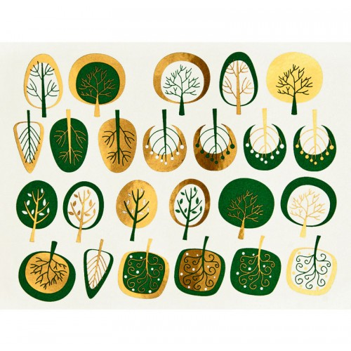 Ceramics Decal: Modern Trees