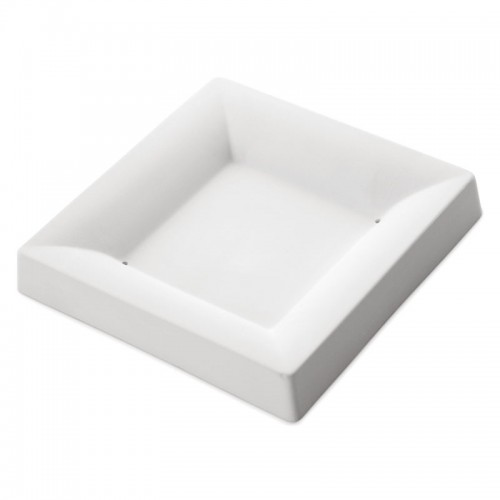 Square Plate Simple Curve Mould 8299 (15.4cm x 15.2cm x 1.7cm)