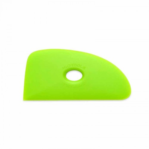 Mudtools Medium Green Polymer Rib - Shape 4