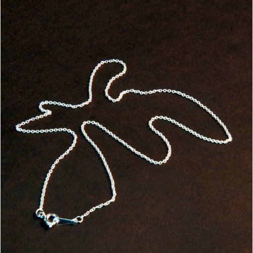 """Silver Plated 18"""" Trace Chain"""