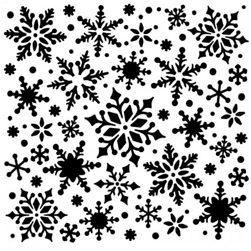 Christmas Snowflake Stencil 15cm x 15cm