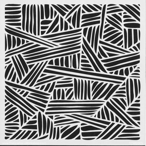 Stripes Stencil 15cm x 15cm