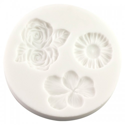 Silicone Mould - Viola, Roses and Daisys