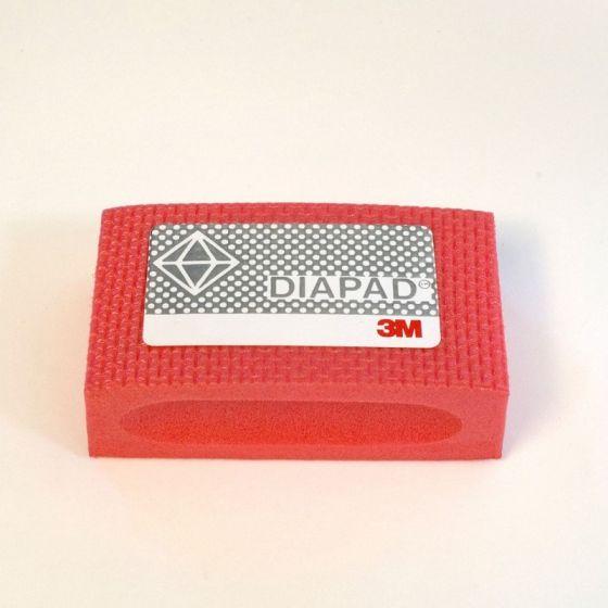 3M Diamond Hand Pad: Medium/Coarse - Red