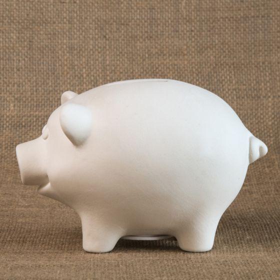 Bisque Piggy Bank