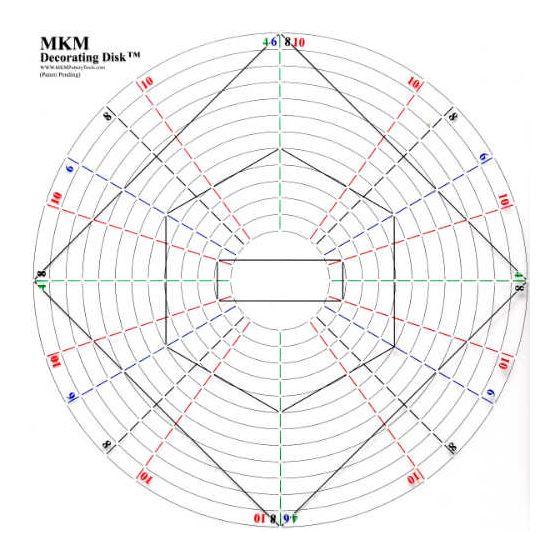"MKM Decorating Disk - 15"" (38cm)"