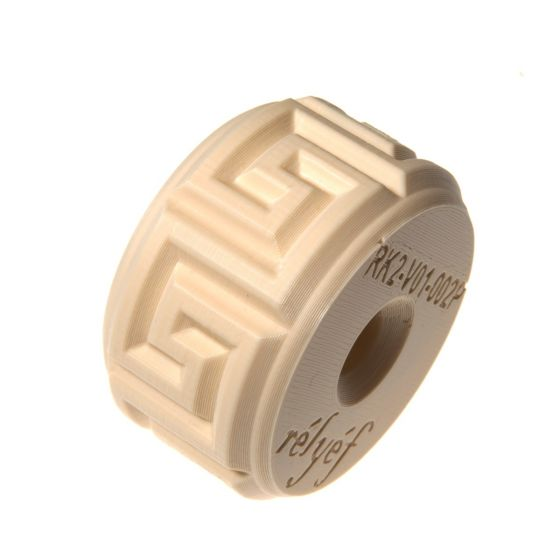 Relyef - Double Sized Greek Meandres Pattern Roller 28mm