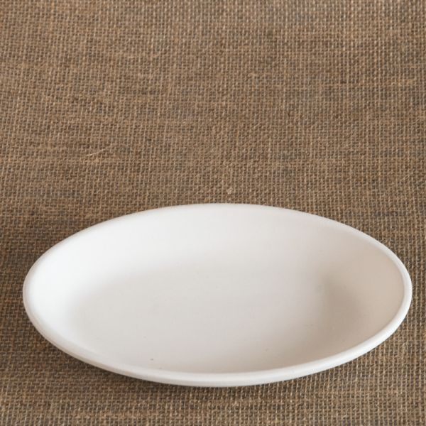 Bisque Oval Plate