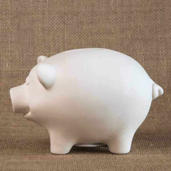 Bisque Piggy Bank