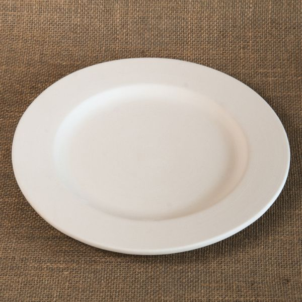 Bisque Rimmed Dinner Plate