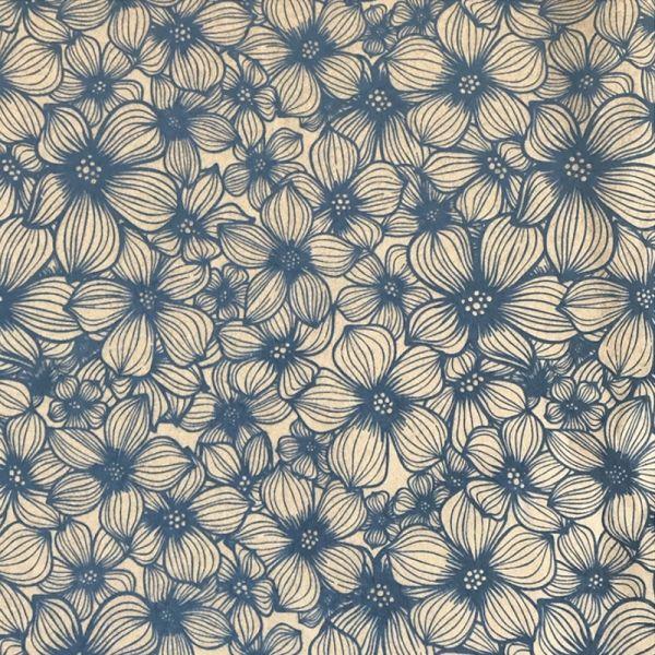 Apple Blossom Underglaze Transfer Sheet - Blue