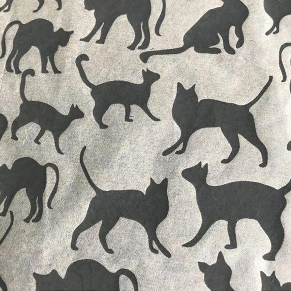 Cats Underglaze Transfer Sheet - Black