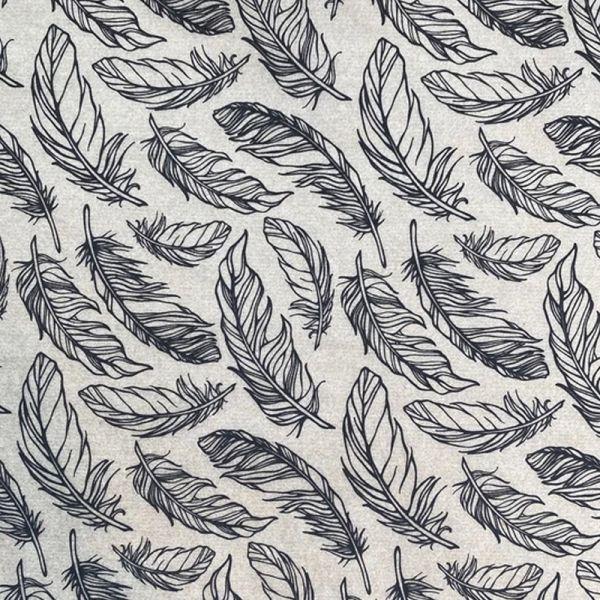 Feathers Underglaze Transfer Sheet - Black